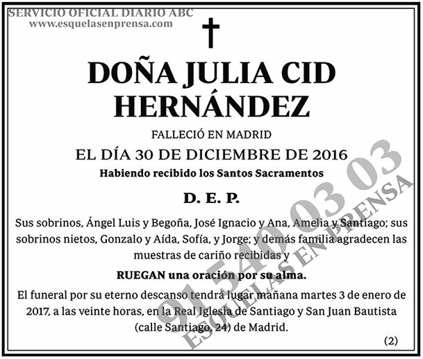 Julia Cid Hernández